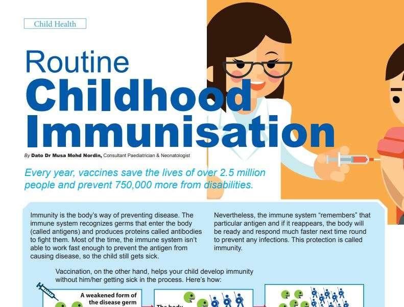 Routine Childhood Immunisation The Malaysian Paediatric Association